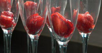Erdbeercocktail
