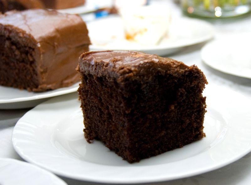 Rezept Saftiger Schokoladenkuchen Vom Blech Die Frische Kuche